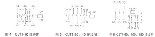 cjt1-10a交流接触器接线图