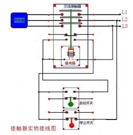 施耐德lc1-d410交流接觸器接線圖