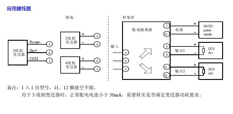 配电隔离器(3 线制)
