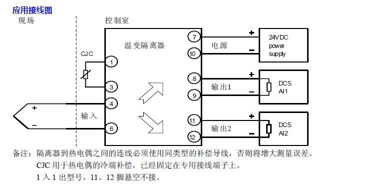热电偶温变隔离器