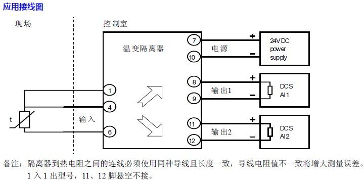 热电阻温变隔离器