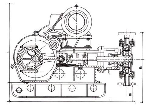 wb系列电动往复泵结构图(wb1,wb2)