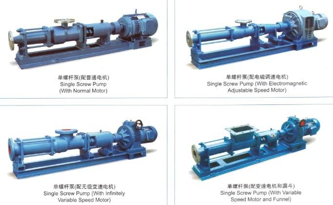 G型单螺杆泵莫诺泵是按迥转啮合容积式原理工作的新型泵种,主要工作部件是偏心螺杆(转子)和固定的衬套(定子)。 由于该二部件的特殊几何形状,分别形成单独的密封容腔,介质由轴向均匀推行流动,内部流速低,容积保持不变,压力稳定,因而不会产生涡流和搅动。每级泵的输出压力为0.