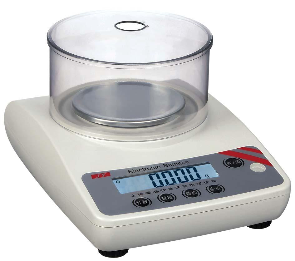 下挂勾称量天平(JY2001)静水力分析天平 JY系类精密电子天平功能简介: 精度高,反应速度快;超重报警功能;全自动故障检测,自动校准;过载、冲击保护功能 多种秤重单位转换:克、克拉、盎司、磅、托拉、格令;LCD背光显示 JY系列电子天平参数: 型号:JY101 - JY3001 JY102-JY3002 JY103-JY303 最大称量值:100g- 3kg 100g- 3kg 100g-300g 可读性: 100mg 10mg 1mg 重复性(标准误差):±0.
