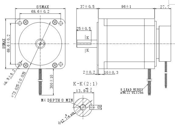 信浓带刹车步进电机y09-59d3-7538m电磁制动步进马达