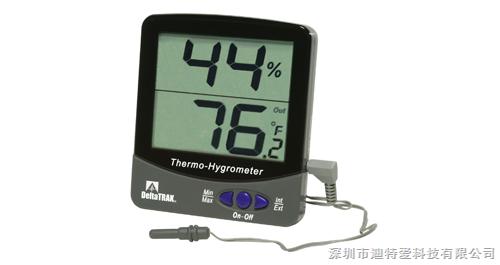 美国原装进口 DeltaTrak 大屏显示 数显温湿度计