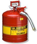 Justrite7.5LII类带软管工业安罐,易燃品防火安罐,易燃液体安罐型号