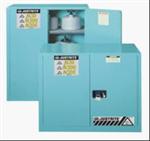 进口Justrite 实验室腐蚀性化学品蓝色储藏柜,工业安全储存柜,易燃物品储存