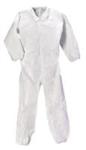 414004-686白色连体防护服带不滑鞋套