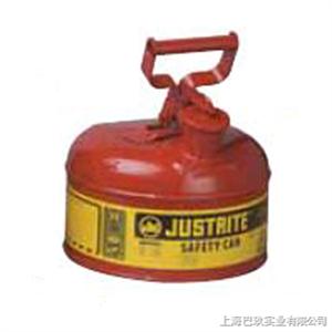 Justrite7.5LI类红色钢制安储存罐,易燃品防火安罐,工业安罐简介