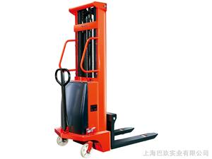 CTD1020国产半电动堆高车,步行式半自动电动堆高机上海巴玖