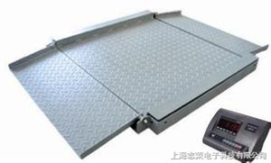 不锈钢超低双层电子地磅秤 超低地磅