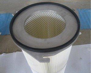 三耳铝盖可覆膜进口聚酯纤维除尘滤筒集尘滤芯